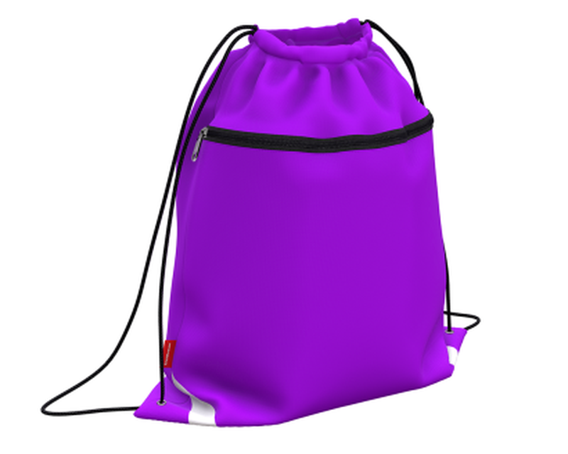 Мешок для обуви ErichKrause® с карманом на молнии 500х410мм Neon Violet 49124
