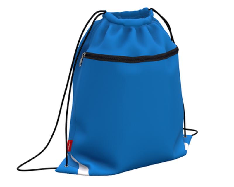 Мешок для обуви ErichKrause® с карманом на молнии 500х410мм Neon Blue 49125