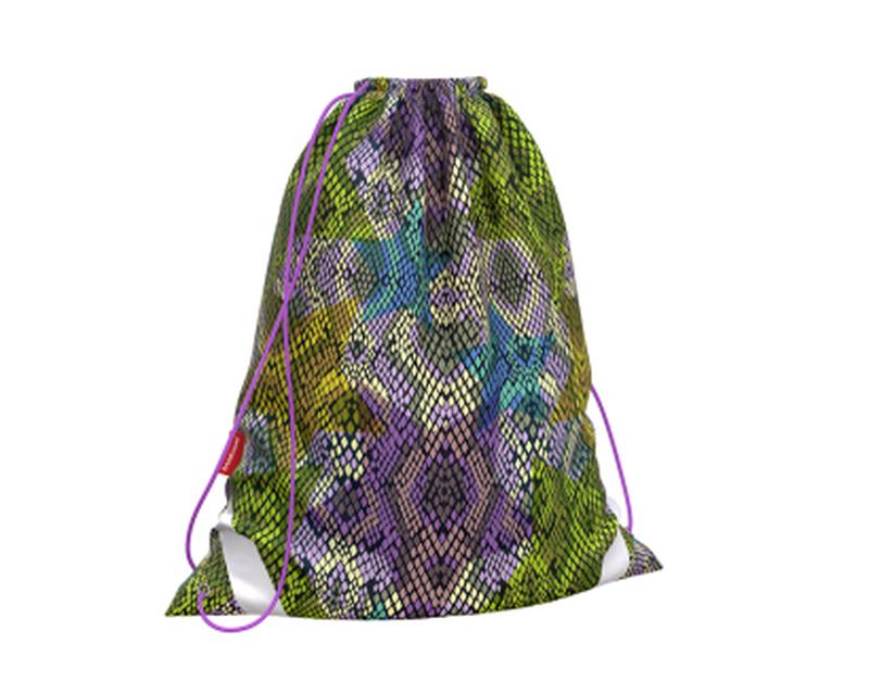 Мешок для обуви ErichKrause® 365x440мм Purple Python 49143