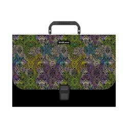 Портфель пластиковый ErichKrause® Purple Python, A4 (в пакете по  1шт.) 49281