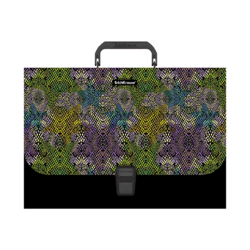 Портфель пластиковый ErichKrause® Purple Python, A4 49281