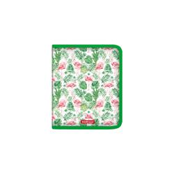 Папка для тетрадей на молнии пластиковая ErichKrause® Tropical Flamingo, A5+ 49287