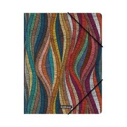 Папка на резинках пластиковая ErichKrause® Mosaic, A4 49297