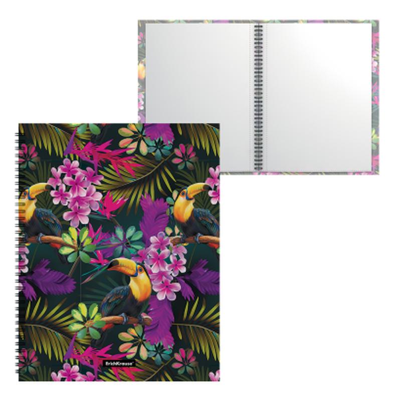 Папка файловая пластиковая на спирали ErichKrause® Tropics, с 20 прозрачными карманами, A4 49308