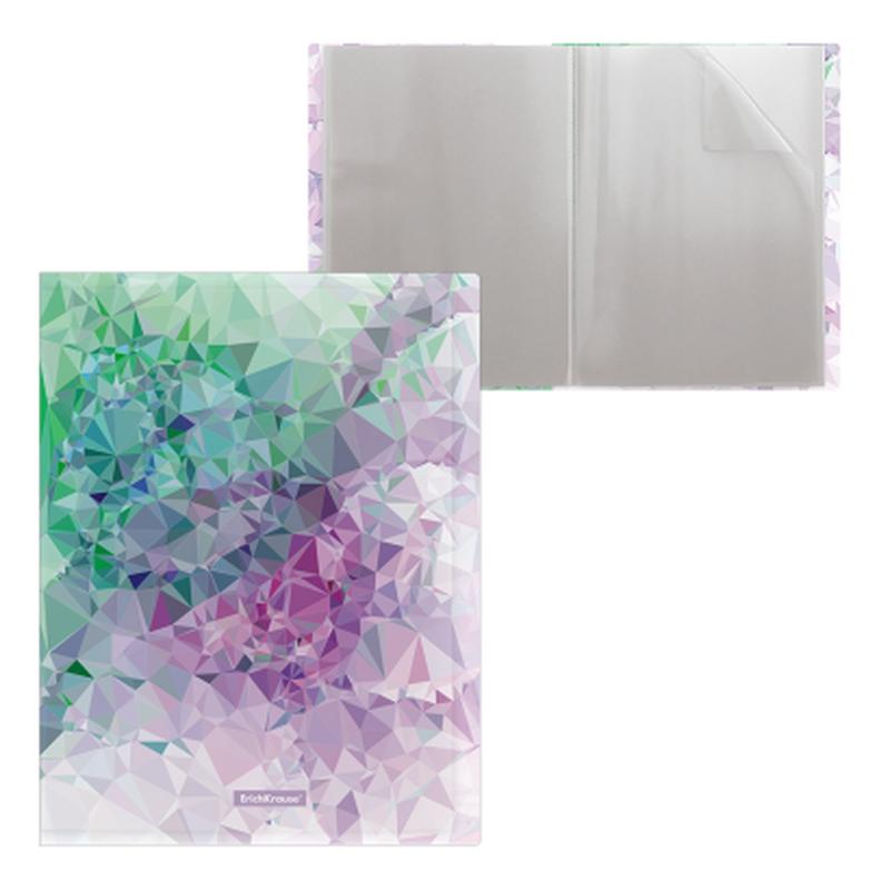 Папка файловая пластиковая ErichKrause® Violet Dynamique, c 20 карманами, A4 49323