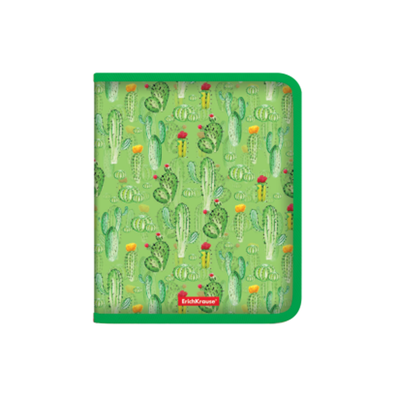 Папка для тетрадей на молнии пластиковая  ErichKrause® Tropical Cactus, A5+ 49348