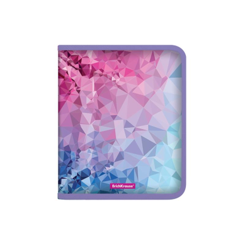 Папка для тетрадей на молнии пластиковая  ErichKrause® Pink Dynamique, A5+ 49349