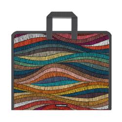 Папка на молнии пластиковая с ручками ErichKrause® Mosaic, A4+  (в пакете по 4 шт.) 49367