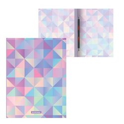 Папка-скоросшиватель пластиковая с пружинным механизмом ErichKrause® Magic Rhombs, A4 49373