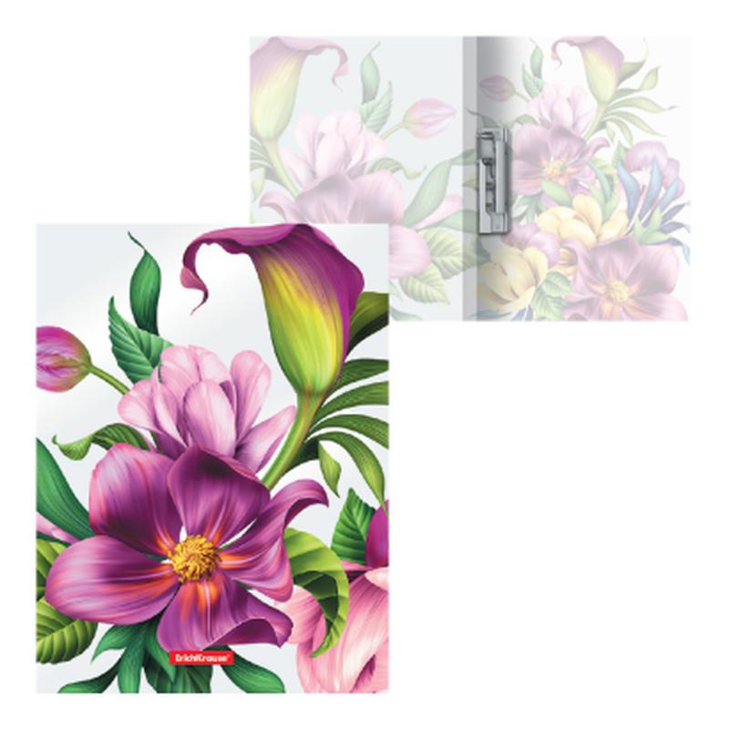 Папка с боковым зажимом пластиковая ErichKrause® Tropical Flowers, A4 49377