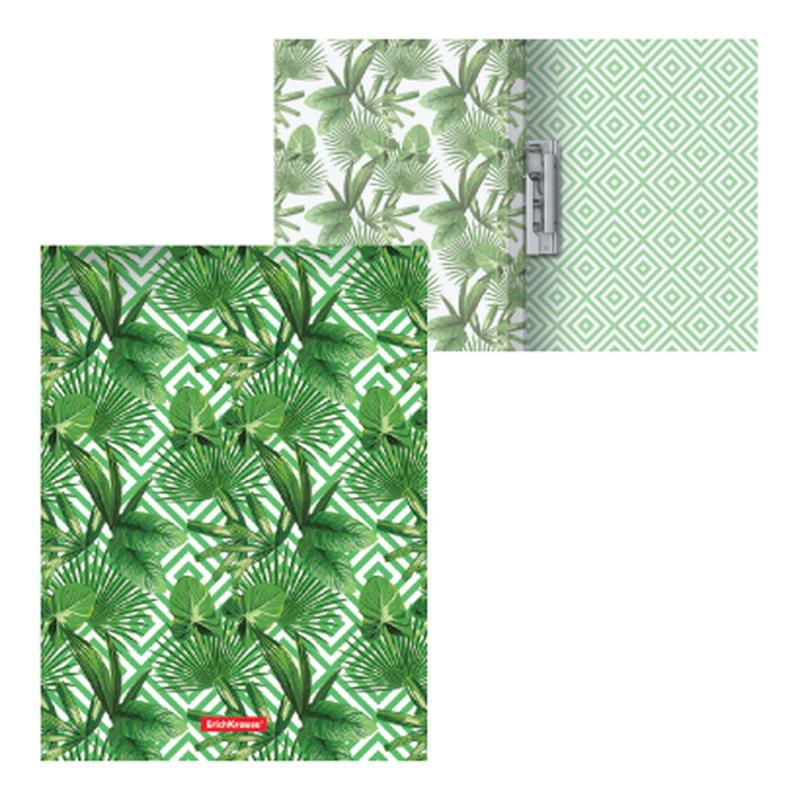 Папка с боковым зажимом пластиковая ErichKrause® Tropical Leaves, A4 49378