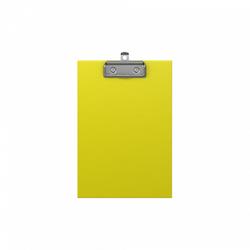 Планшет с зажимом ErichKrause® Neon, А5, желтый 49442