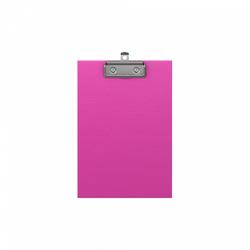 Планшет с зажимом ErichKrause® Neon, А5, розовый 49443