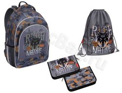 Ученический рюкзак ErichKrause® ErgoLine® 15L Rough Native с наполнением 49466/1
