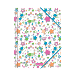 Папка на резинках пластиковая  ErichKrause® Neon Stars, A4 49505