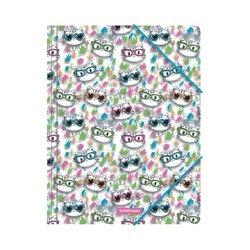 Папка на резинках пластиковая ErichKrause® Neon Cats, A4 49523