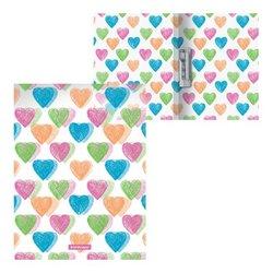 Папка с боковым зажимом пластиковая ErichKrause® Neon Hearts, A4 49528