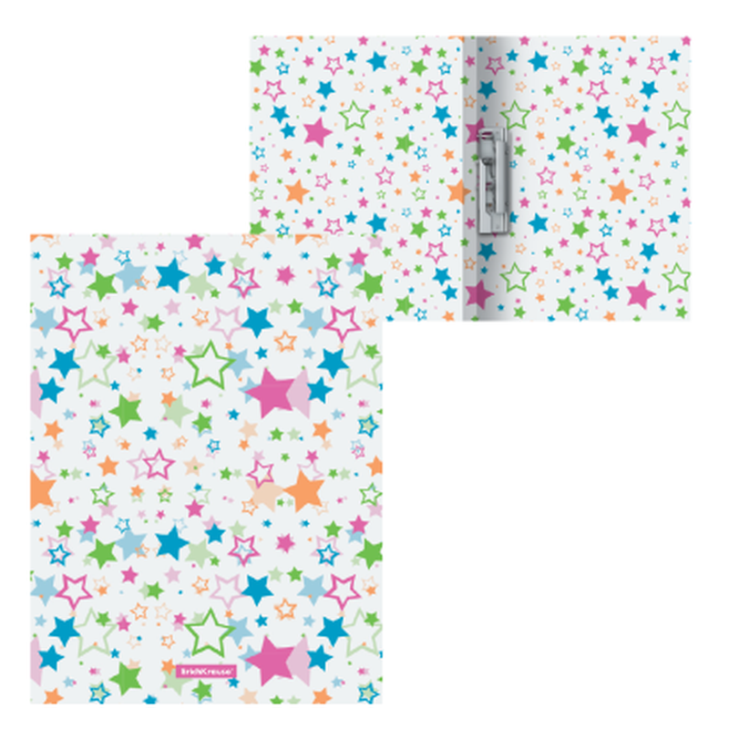 Папка с боковым зажимом пластиковая ErichKrause® Neon Stars, A4 49529