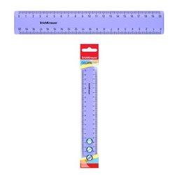 Линейка пластиковая  ErichKrause® Pastel, 20 см, фиолетовый, в флоупаке 49545