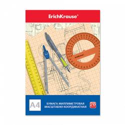 Бумага масштабно-координатная на клею ErichKrause®, А4, 20 листов 49725