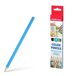 Цветные карандаши шестигранные ErichKrause® 6 цветов 49881