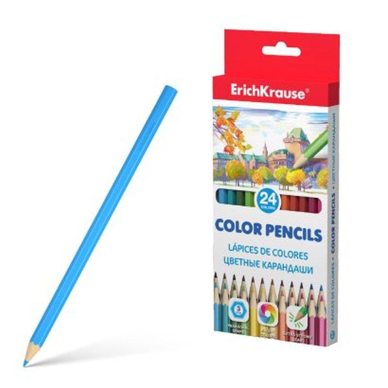 Цветные карандаши шестигранные ErichKrause®  24 цвета 49884