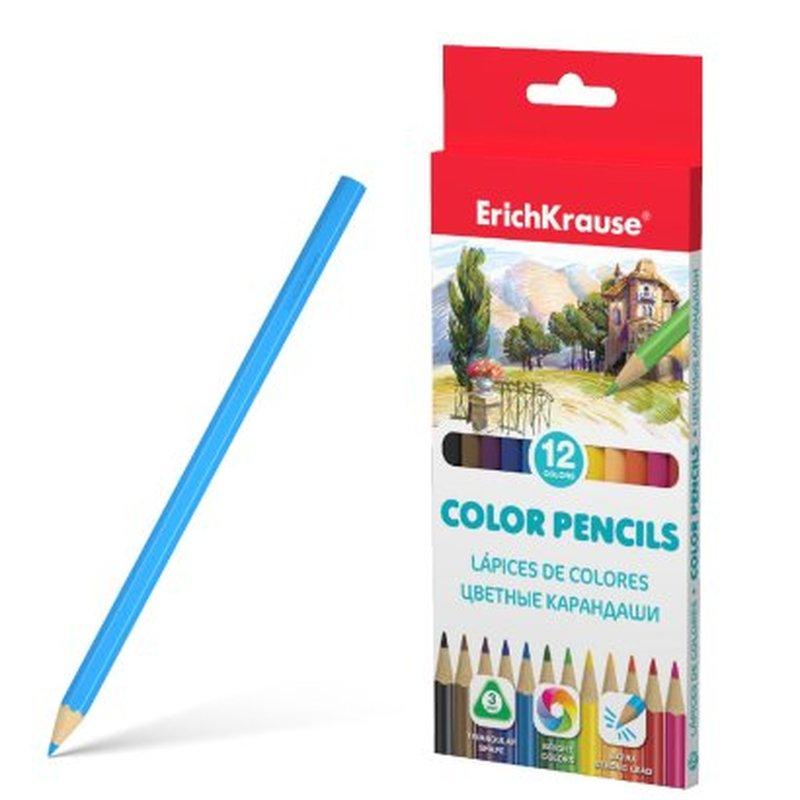 Цветные карандаши трехгранные ErichKrause®  12 цветов 49886