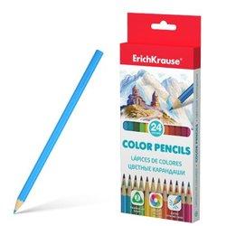Цветные карандаши трехгранные ErichKrause® 24 цвета 49888