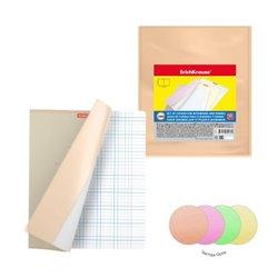 Набор пластиковых обложек ErichKrause® Glossy Neon для тетрадей и дневников, ПВХ, 212х347мм, 150 мкм (пакет 12 шт) 49917