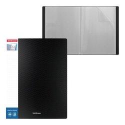 Папка файловая пластиковая с карманом на корешке ErichKrause® Diamond Original, c 20 карманами, A4, черный 49943