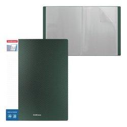 Папка файловая пластиковая с карманом на корешке ErichKrause® Diamond Original, c 20 карманами, A4, зеленый 49946