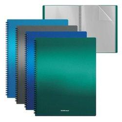 Папка файловая пластиковая на спирали ErichKrause® Matt Ice Metallic, c 20 карманами, A4, ассорти 49961