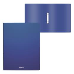 Папка на 2 кольцах пластиковая  ErichKrause® Matt Classic, 24мм, A4, синий 49965
