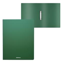 Папка на 2 кольцах пластиковая  ErichKrause® Matt Classic, 24мм, A4, зеленый 49966