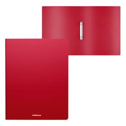 Папка на 2 кольцах пластиковая  ErichKrause® Matt Classic, 24мм, A4, красный 49967