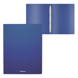 Папка на 4 кольцах пластиковая  ErichKrause® Matt Classic, 24мм, A4, синий 49970
