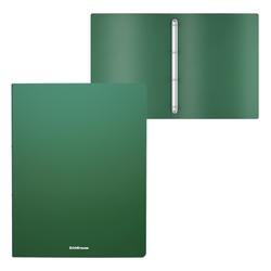 Папка на 4 кольцах пластиковая  ErichKrause® Matt Classic, 24мм, A4, зеленый 49971