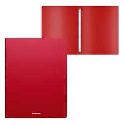 Папка на 4 кольцах пластиковая  ErichKrause® Matt Classic, 24мм, A4, красный 49972