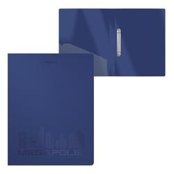 Папка на 2 кольцах пластиковая  ErichKrause® MEGAPOLIS, 24 мм, А4, синий (в пакете по 4 шт.) 49979