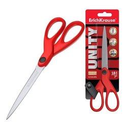Ножницы ErichKrause® Unity, 18см, красный (в блистере по 1 шт.) 50014