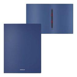 Папка-скоросшиватель пластиковая с пружинным механизмом ErichKrause® Matt Classic, A4, синий 50121