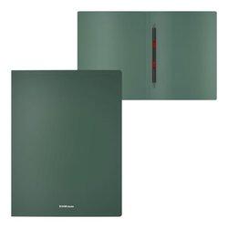 Папка-скоросшиватель пластиковая с пружинным механизмом ErichKrause® Matt Classic, A4, зеленый 50129
