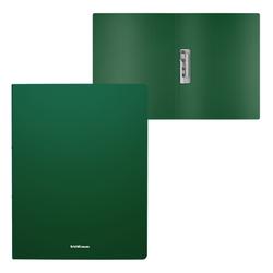 Папка с боковым зажимом пластиковая ErichKrause® Matt Classic, A4, зеленый 50136