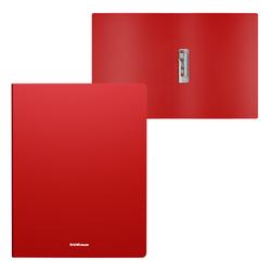 Папка с боковым зажимом пластиковая ErichKrause® Matt Classic, A4, красный 50137