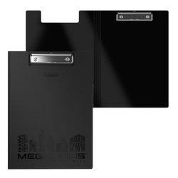 Папка-планшет пластиковая ErichKrause® MEGAPOLIS, A4, черный 50142