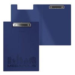 Папка-планшет пластиковая ErichKrause® MEGAPOLIS, A4, синий 50145