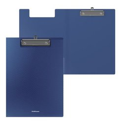 Папка-планшет пластиковая ErichKrause® Diamond Original, A4, синий 50147