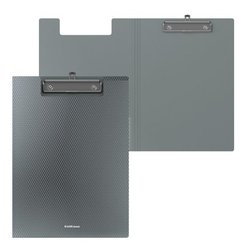 Папка-планшет пластиковая ErichKrause® Diamond Original, A4, серый 50148