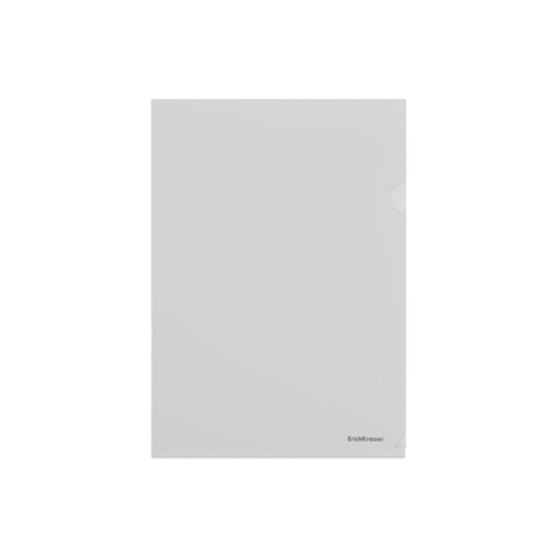 Папка-уголок пластиковая  ErichKrause® Fizzy Clear, A4, прозрачный 50150