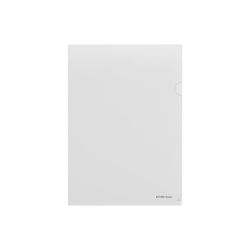 Папка-уголок пластиковая  ErichKrause® Glossy Clear, A4, прозрачный 50151